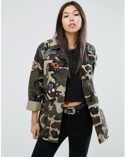 Camo-print Cotton Jacket