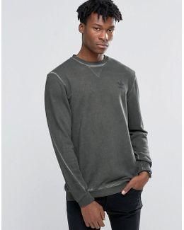 Street Modern Crew Sweatshirt In Green Ay9203