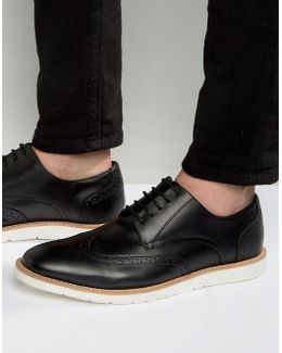 Brogues In Black Leather