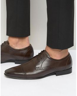 Toe Cap Oxford Shoes In Brown