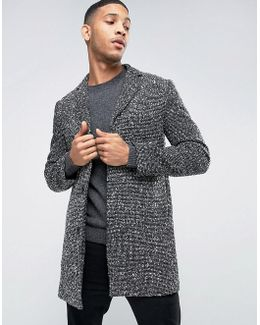 Wool Overcoat With Flecked Detail