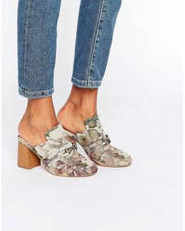 Oma Loafer Heeled Mules