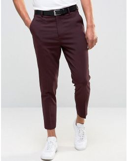 Tapered Pants In Burgundy