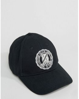 Baseball Cap In Navy With Collegiate Embroidery