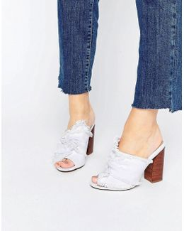 Twilights Knotted Heeled Mules