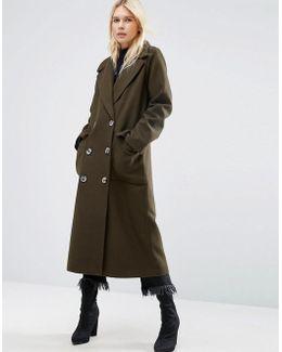 Coat With Oversized Styling