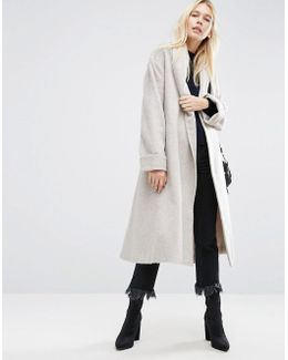 Coat In Soft Texture With Belt