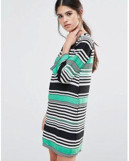 Shift Dress In Stripe