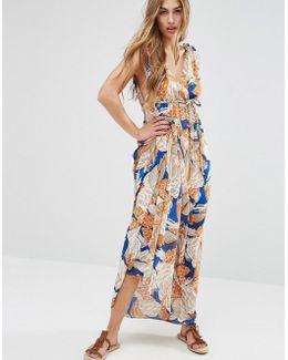 Maxi Dress In 70's Print