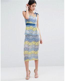 Fab Lace Midi Dress In Multi Lace