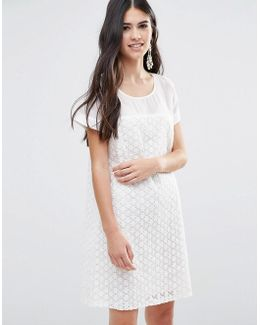 A Line Dress In Daisy Lace