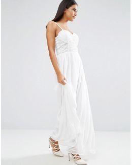 Lace Bodice Maxi Dress
