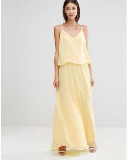 Cami Overlay Maxi Bridesmaid Dress