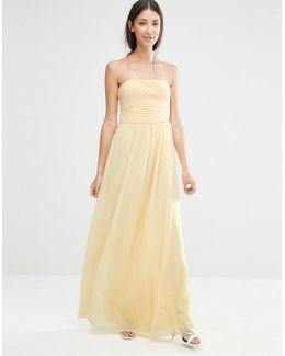 Bandeau Midi Bridesmaid Dress