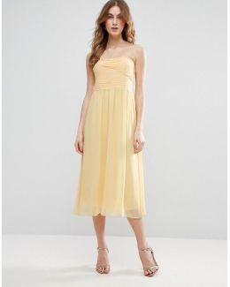 Ruched Bodie Bandeau Maxi Bridesmaid Dress