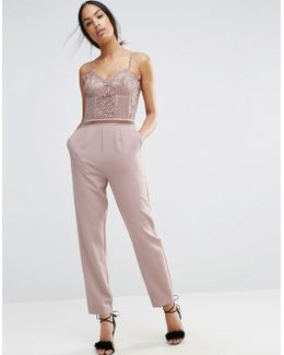 Jumpsuit With Delicate Lingerie Detail
