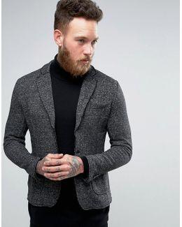Vintage Patch Pocket Blazer In Heavy Jersey