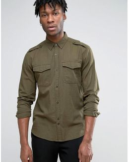 Military Shirt With Chest Pockets