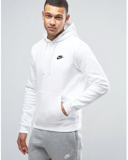 Pullover Hoodie With Embroidered Logo In White 804346-100