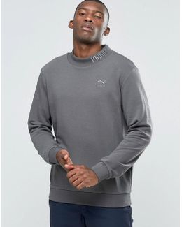 High Neck Sweat With Embroided Logo