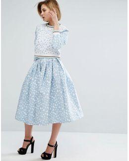 Heart Jacquard Skirt