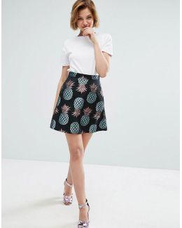 Pineapple Skater Skirt