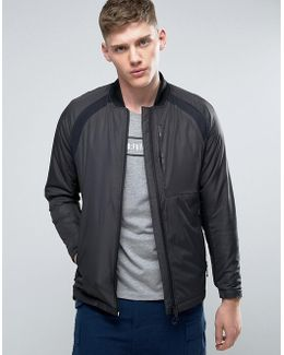 Tech Bomber Jacket With Padding