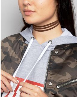 Suede Strand Choker Necklace