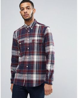 Flannel Shirt With Double Check Pocket