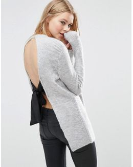 Jumper With Tie Back