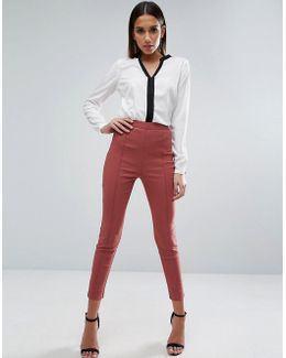 High Waisted Skinny Crop Pants