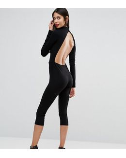 Cropped Jumpsuit With Cut Out Back