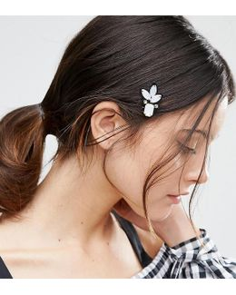 Pack Of 2 Embellished Hair Clips