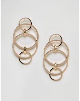 Interlinking Circle Stud Earrings