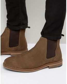Chelsea Boots In Tan Suede With Natural Sole