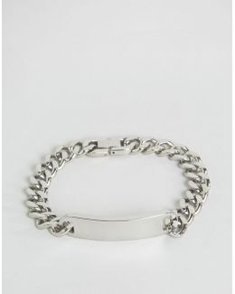 Id Chain Bracelet In Silver Exclusive To Asos