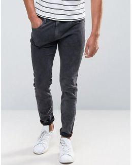 Skinny Washed Black Jeans