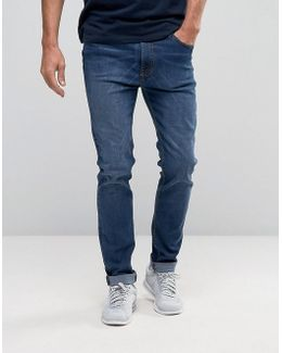 Skinny Stretch Washed Indigo Jeans