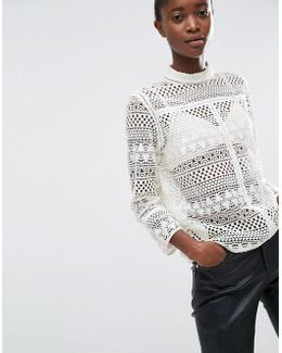 Round Neck Top With Cut Out Detail