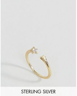 Gold Plated Sterling Silver Open Star Ring