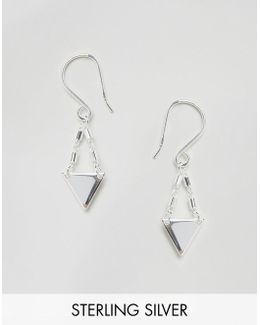Sterling Silver Mini Triangle Drop Earrings