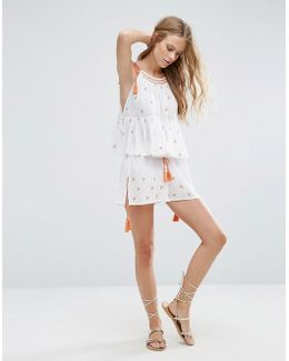 Beach Co-ord Embroidered Short