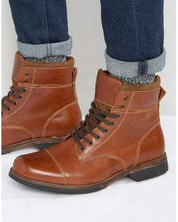 Swithbert Leather Laceup Boots