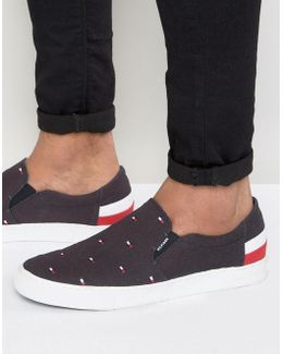 Jay Flag Slip On Plimsolls