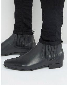 Zelus Leather Chelsea Boots