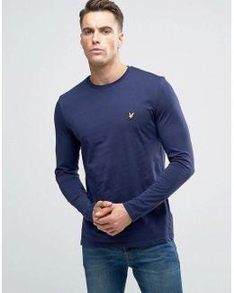 Long Sleeve Top Eagle Logo In Navy