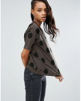 Top In Spot Print With Contrast Binding