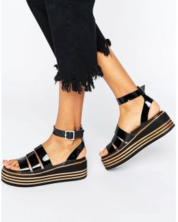 Treasured Leather Chunky Strappy Sandals