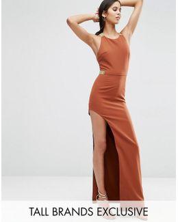 Split Side Maxi Dress With Hardware Detail