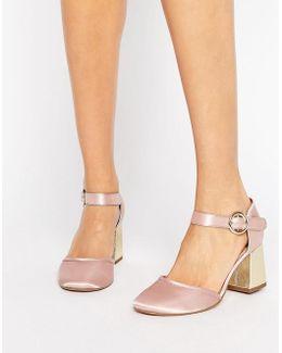 Kg Poppy Heel Satin Shoe